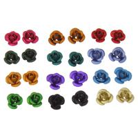 Alumiini kukka helmiä, maalannut, Korean tyyli & erikokoisia valinnalle & kerroksittainen & matta, enemmän värejä valinta, nikkeli, lyijy ja kadmium vapaa, Reikä:N. 1mm, 1000PC/laukku, Myymät laukku