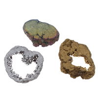 Druzy Beads, Ice Quartz Agate, natural, druzy style & different size for choice & no hole, more colors for choice, 10PCs/Bag, Sold By Bag