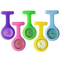 Nurse Watch, Silicone, with zinc alloy dial & Glass, platinum color plated, more colors for choice, nickel, lead & cadmium free, 40x85mm, Sold By PC
