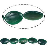 Green Agate Beads, Flat Oval, 30-35x22-25x7mm, Hole:Approx 2mm, Length:Approx 15.5 Inch, 5Strands/Lot, Sold By Lot