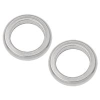 Roestvrij staal ring connectors, Donut, oorspronkelijke kleur, 8x2mm, Gat:Ca 4.5mm, 300pC's/Bag, Verkocht door Bag
