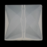 Jelly Style Acrylic Beads, Square, faceted, white, 25x25x11mm, Hole:Approx 1mm, 2Bags/Lot, Approx 100PCs/Bag, Sold By Lot