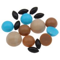 Акриловые Кабошоны, Акрил, плоской задней панелью & разнообразный & ровный цвет, 3x7x2mm-10x5mm, 2Сумки/Лот, Приблизительно 3300ПК/сумка, продается Лот