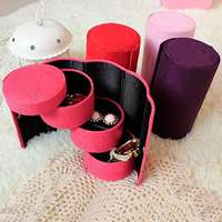 Velveteen Storage Box, Column, more colors for choice, 75x135mm, Sold By PC