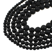 Natural Lava Beads, Round, different size for choice, Hole:Approx 1.2mm, Sold Per Approx 15 Inch Strand