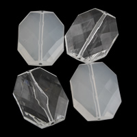 Transparent Acrylic Beads Octagon different styles for choice   faceted 25x33x9mm Hole:Approx 1mm 2Bags/Lot Approx 90PCs/Bag