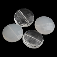 Transparent Acrylic Beads Flat Round different styles for choice   faceted 20x7mm Hole:Approx 1mm 2Bags/Lot Approx 290PCs/Bag