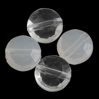 Transparent Acrylic Beads, Flat Round, different styles for choice & faceted, 10x6mm, Hole:Approx 1mm, 2Bags/Lot, Approx 1250PCs/Bag, Sold By Lot