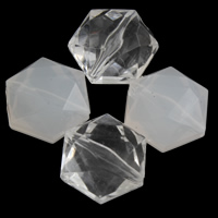 Transparent Acrylic Beads, Hexagon, different styles for choice & faceted, 14x15x9mm, Hole:Approx 1mm, 2Bags/Lot, Approx 380PCs/Bag, Sold By Lot