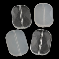 Transparent Acrylic Beads, Rectangle, different styles for choice, 25x35x9mm, Hole:Approx 1mm, 2Bags/Lot, Approx 70PCs/Bag, Sold By Lot