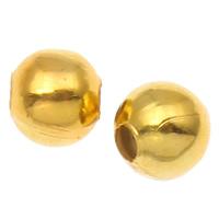 Żelazne koraliki, żelazo, Koło, Platerowane w kolorze złota, bez zawartości niklu, ołowiu i kadmu, 5mm, otwór:około 2mm, 200komputery/torba, sprzedane przez torba