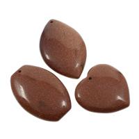 Natural Goldstone Pendants, 35x53x6mm-43x42x6mm, Hole:Approx 2mm, 5PCs/Bag, Sold By Bag