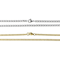 Stainless Steel Chain Necklace plated twist oval chain 5x3.50x1mm Length:Approx 24 Inch