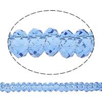 European kristalli helmiä, Rondelli, ilman peikko, Lt Sapphire, 14x7mm, Reikä:N. 6mm, 50PC/Strand, Myyty Per 14 tuuma Strand