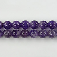 Natural Amethyst Beads, Round, February Birthstone, 10mm, Hole:Approx 1mm, Length:Approx 15.5 Inch, 3Strands/Lot, Approx 39PCs/Strand, Sold By Lot