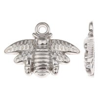 Copper Coated Plastic Pendant, Bee, platinum color plated, lead & cadmium free, 21x16x3mm, Hole:Approx 1mm, 100PCs/Bag, Sold By Bag