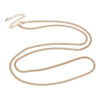 Iron Necklace Chain, with 8cm extender chain, KC gold color plated, box chain, nickel, lead & cadmium free, 3mm, Sold Per Approx 29 Inch Strand