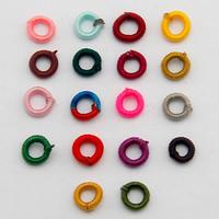 Tkane koraliki, Poliester, Pączek, dostępnych więcej kolorów, 7mm, otwór:około 5mm, 1000komputery/torba, sprzedane przez torba