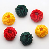 Woven Beads, Polyester, Flower, more colors for choice, 20x15mm, Hole:Approx 2-4mm, 1000PCs/Bag, Sold By Bag