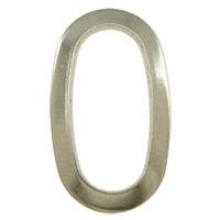 Roestvrij staal ring connectors, Plat Ovaal, oorspronkelijke kleur, 12x20x1mm, Gat:Ca 7x16mm, 500pC's/Lot, Verkocht door Lot