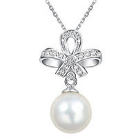 South Sea Shell Pendant, 925 Sterling Silver, with South Sea Shell, Flower, micro pave cubic zirconia, 25x15mm, Hole:Approx 3mm, 5PCs/Lot, Sold By Lot