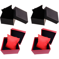 Cardboard Bracelet Box, with Non-woven Fabrics, Cube, more colors for choice, 88x82x50mm, Sold By PC