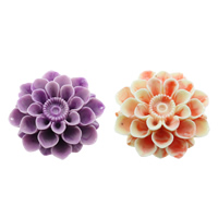 Fluted Giant Connector, Flower, 1/1 loop & layered, more colors for choice, 63x62x26mm, Hole:Approx 1mm, Sold By PC