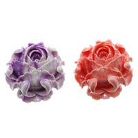 Karbowany olbrzymi Wisior, Rzeźbiony gigant, Kwiat, warstwowe, dostępnych więcej kolorów, 46x49x24mm, otwór:około 1mm, sprzedane przez PC