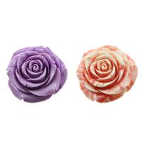 Rzeźbiony gigant Wisiorek, Kwiat, warstwowe, dostępnych więcej kolorów, 50x51x24mm, otwór:około 1mm, sprzedane przez PC