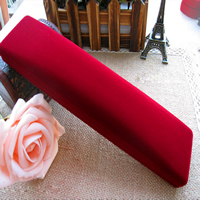 Velveteen Necklace Box, with Glue Film, red camouflage, 220x50x30mm, 20PCs/Lot, Sold By Lot