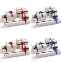 Cardboard Jewelry Set Box, with Satin Ribbon, different styles for choice, more colors for choice, Sold By PC