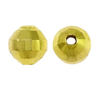 Messing kralen, Drum, gold plated, nikkel, lood en cadmium vrij, 8x8mm, Gat:Ca 2mm, 50pC's/Bag, Verkocht door Bag