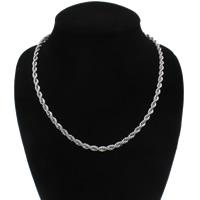 Ijzeren halsketting keten, Ijzer, platinum plated, touw ketting, nikkel, lood en cadmium vrij, 5mm, Per verkocht Ca 19 inch Strand