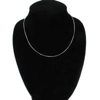 Messing halsketting ketens, platinum plated, slang keten, nikkel, lood en cadmium vrij, 2mm, Per verkocht Ca 17 inch Strand
