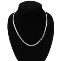 Brass Chain Necklace, word I love you, platinum color plated, herringbone chain, nickel, lead & cadmium free, 4x1mm, Sold Per Approx 19 Inch Strand