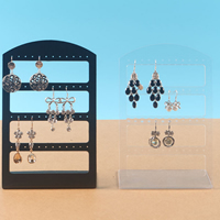 Plastic Earring Display, more colors for choice, 125x195mm, 10PCs/Lot, Sold By Lot