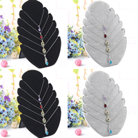 Velveteen Necklace Display with Cardboard Leaf 280x200mm