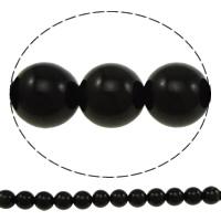 Musta Obsidian Helmet, Pyöreä, erikokoisia valinnalle, Reikä:N. 1mm, Myymät erä