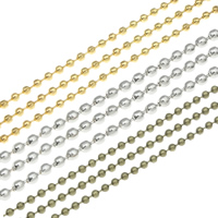 Iron Ball Chain, plated, different size for choice, more colors for choice, nickel, lead & cadmium free, 95m/Bag, Sold By Bag