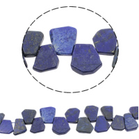 Natural Lapis Lazuli Beads, 17x14x3.5mm-27x26x5mm, Hole:Approx 1mm, Approx 32PCs/Strand, Sold Per Approx 16 Inch Strand