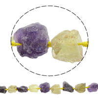 Druzy Beads, Quartz, natural, druzy style & two tone, 16-27mm, Hole:Approx 1mm, Approx 16PCs/Strand, Sold Per Approx 16.5 Inch Strand