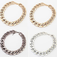 CCB Ожерелья, Пластик с медным покрытием, с 5cm наполнитель цепи, Другое покрытие, твист овал, Много цветов для выбора, 2cm, длина:Приблизительно 16.5 дюймовый, продается указан