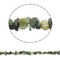 Luonnollinen Moss akaatti helmet, 4-17mm, Reikä:N. 1mm, N. 63PC/Strand, Myyty Per N. 16.1 tuuma Strand