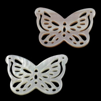 Shell Connector, Butterfly, natural, different materials for choice & 1/1 loop & hollow, 27.50x17.50x2mm, Hole:Approx 1mm, 10PCs/Lot, Sold By Lot