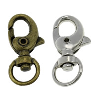 Zinc Alloy Lobster Swivel Clasp, plated, more colors for choice, nickel, lead & cadmium free, 14.50x31x7mm, Hole:Approx 9x5mm, 200PCs/Lot, Sold By Lot