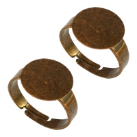 Brass Bezel Ring Base, antique copper color plated, adjustable, nickel, lead & cadmium free, 12x1mm, 4mm, US Ring Size:7, 200PCs/Lot, Sold By Lot