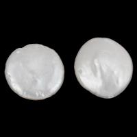 Naturalne perły słodkowodne perełki luźne, Perła naturalna słodkowodna, Moneta, biały, 11-12mm, otwór:około 0.8mm, 5komputery/torba, sprzedane przez torba