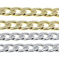 Łańcucha krawężnika ze stali nierdzewnej, Stal nierdzewna, Powlekane, łańcucha krawężnika, dostępnych więcej kolorów, 22.50x15x4mm, 5m/wiele, sprzedane przez wiele
