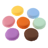 Macaron Storage Box, Polypropyleen (PP), Biscuit, gemengde kleuren, 42.5x19.5mm, 5pC's/Lot, Verkocht door Lot