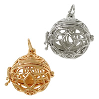 Pregnant Ball Locket Pendant, Brass, plated, high quality plating and never fade & hollow, more colors for choice, nickel, lead & cadmium free, 29x31x25mm, Hole:Approx 6.5x7mm, Inner Diameter:Approx 20.5mm, 30PCs/Lot, Sold By Lot